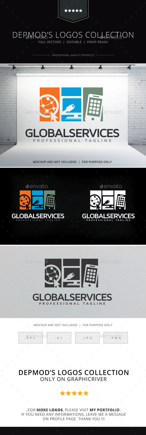 GraphicRiver Global Services Logo 10502130