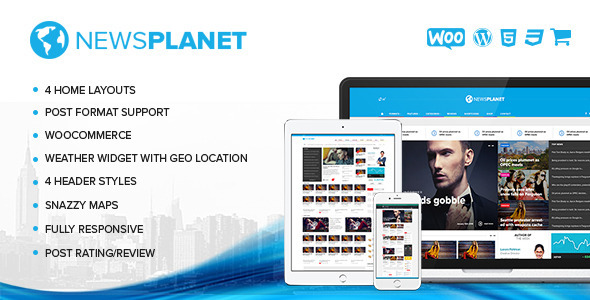 ThemeForest NewsPlanet Magazine News & Blog WordPress Theme 10502186