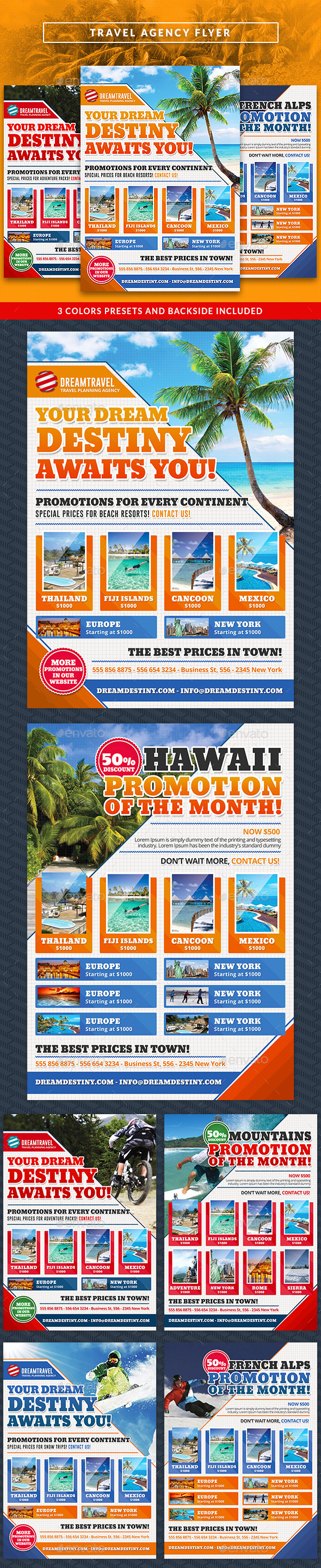 GraphicRiver Travel Agency Commerce Flyer 10502590