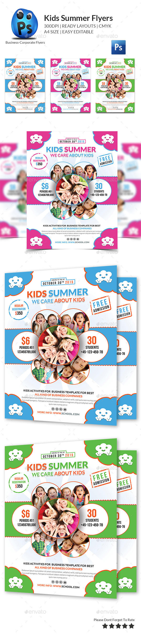 GraphicRiver Kids Summer Flyers 10443705