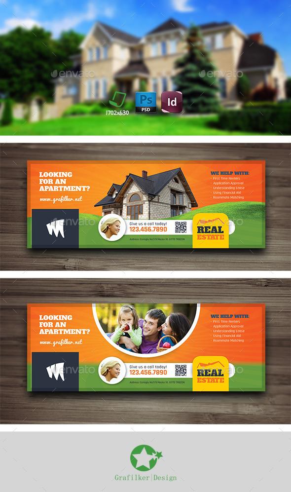 GraphicRiver Real Estate Cover Templates 10503230