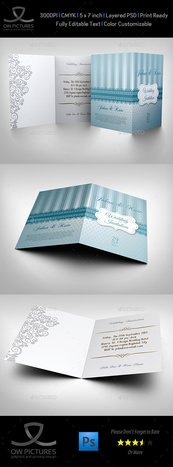 GraphicRiver Wedding Invitation Card Template Vol.9 10503316