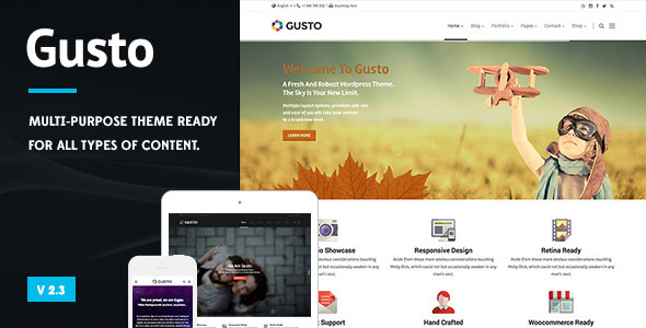 Gusto - Vanguard Wordpress Theme - Business Corporate