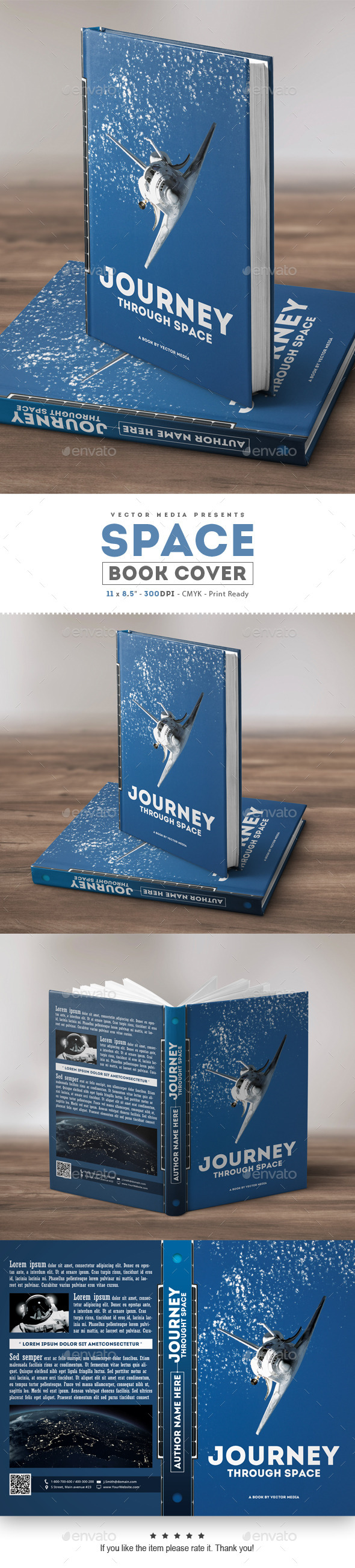 Book Cover Graphicriver : Space book cover miscellaneous print templates