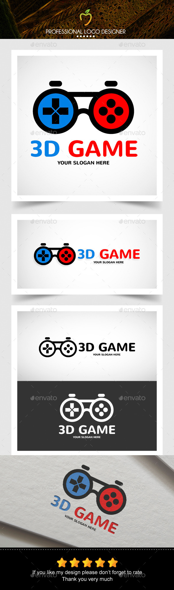 GraphicRiver Game Glasses Logo 10503537