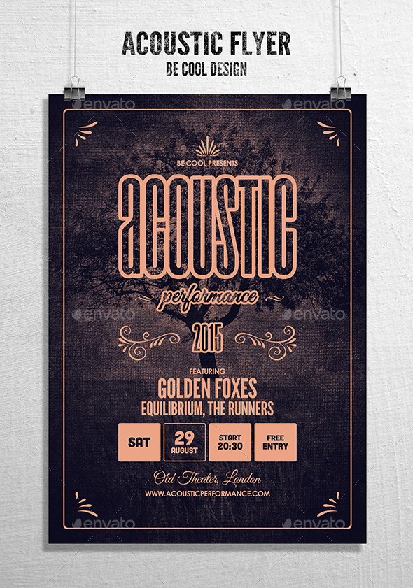GraphicRiver Acoustic Flyer Poster 10503545