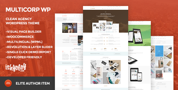 ThemeForest Multicorp WP Clean Agency WordPress Theme 10394099