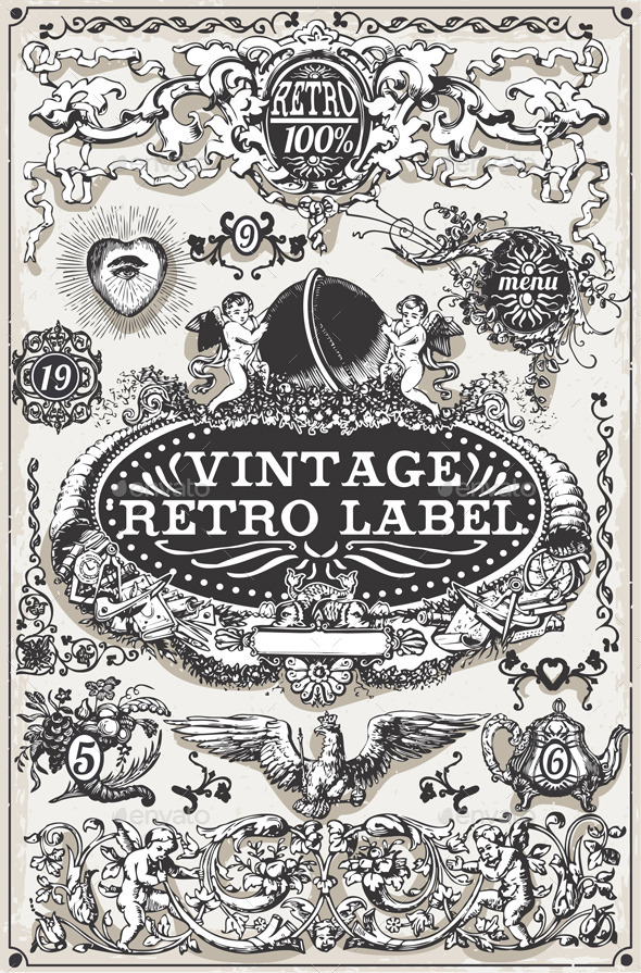 GraphicRiver Vintage Hand Drawn Graphic Banners and Labels 10503823