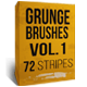 Grunge brushes Vol.1 - 72 stripes - GraphicRiver Item for Sale