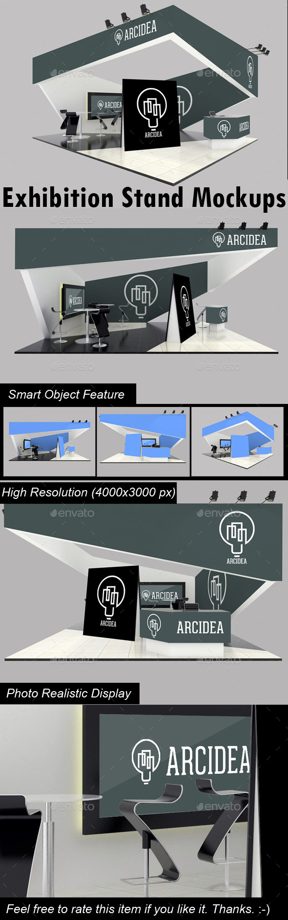 GraphicRiver Exhibition Stand Mockups 10461854