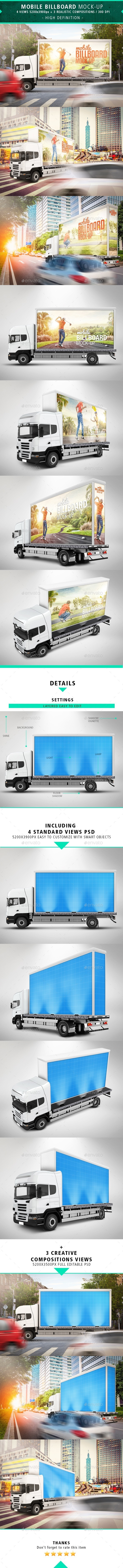 GraphicRiver 7 Mobile Billboard Mock-up 10458545