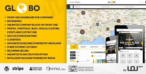 ThemeForest Globo Directory Listings WordPress Theme 10203171