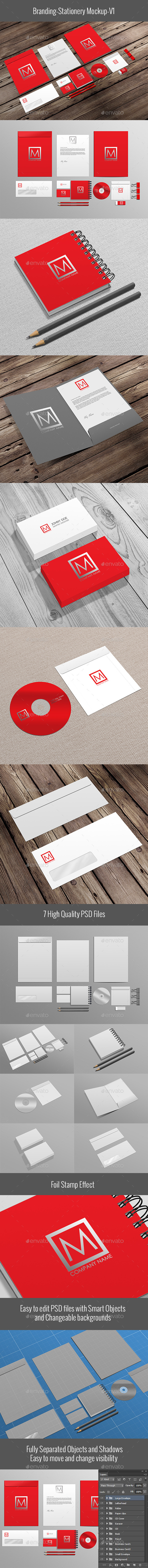 Christmas New Year Card Mockup (Stationery)