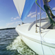 Sailing Boat in Lake on Sunny Day - VideoHive Item for Sale