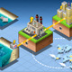 Isometric Infographic Underwater Turbines - GraphicRiver Item for Sale