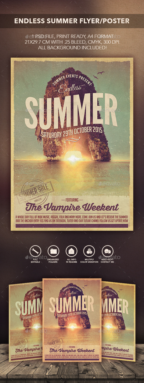 GraphicRiver Endless Summer Flyer Poster 10506010
