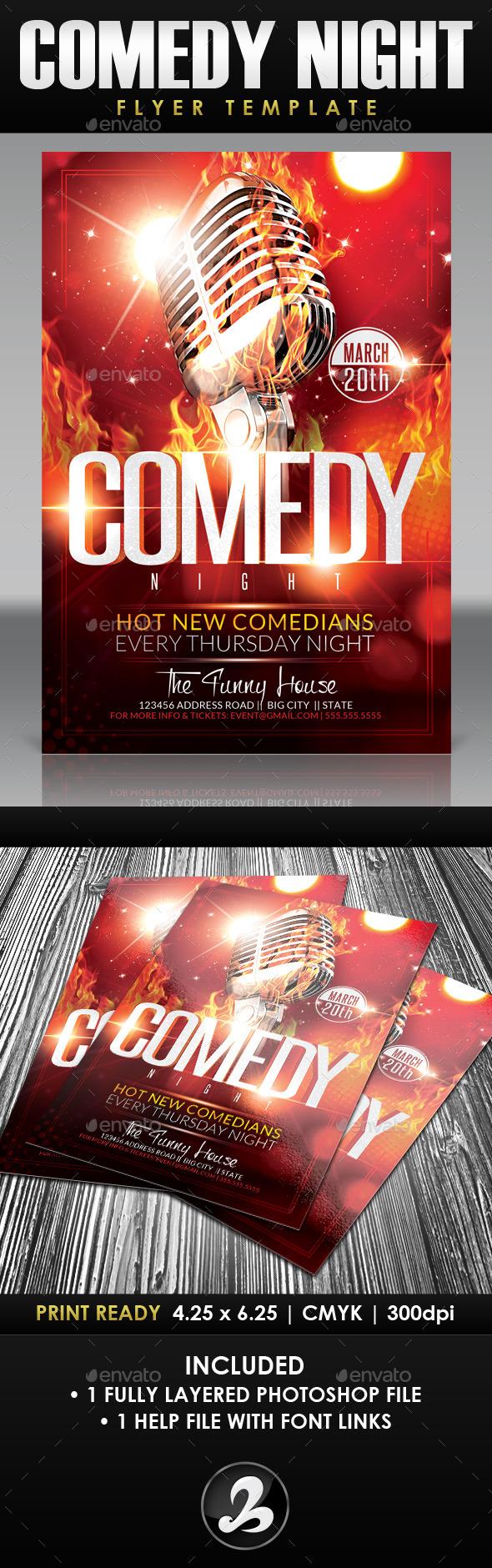 free comedy night flyer template tinkytyler org stock