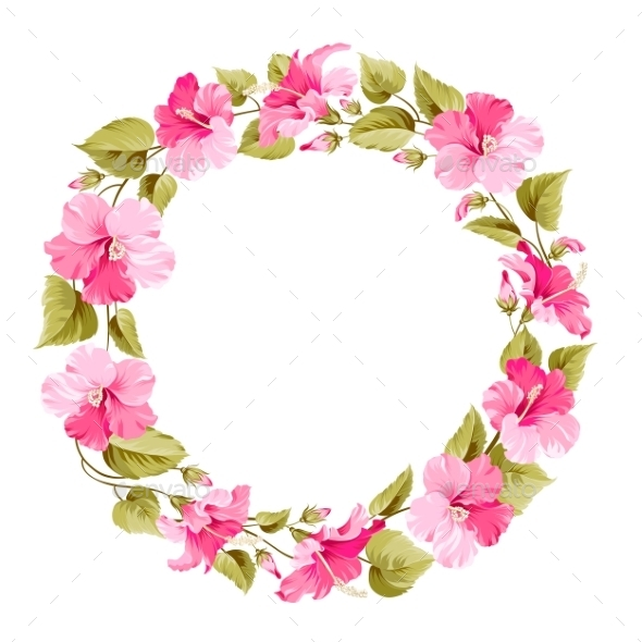 GraphicRiver Floral Wreath 10506108
