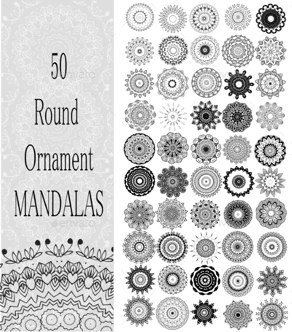 GraphicRiver Set of 50 Ornaments 10506663