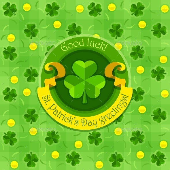 GraphicRiver Shamrock Symbol For Saint Patricks Day with Ribbon 10506694