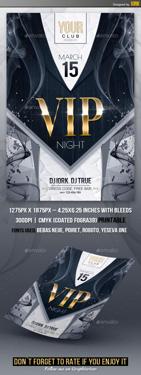 GraphicRiver VIP Night Party Flyer 10506745