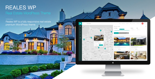 ThemeForest Reales WP Real Estate WordPress Theme 10330568