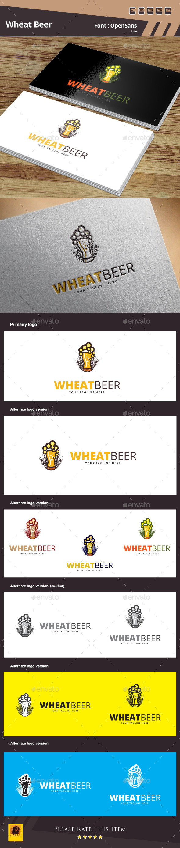 GraphicRiver Wheat Beer Logo Template 10506779