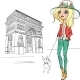 Fashion Girl in Paris  - GraphicRiver Item for Sale