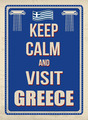Keep calm and visit Greece poster - PhotoDune Item for Sale