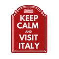 Keep calm and visit Italy stamp - PhotoDune Item for Sale