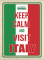 Keep calm and visit Italy poster - PhotoDune Item for Sale