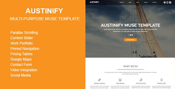 ThemeForest Austinify Multi-purpose Muse Template 10507029