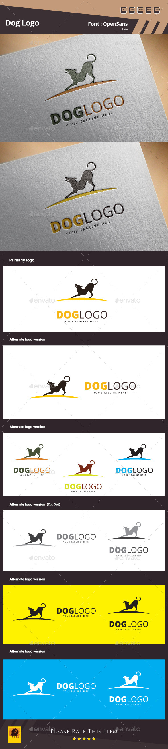 GraphicRiver Dog Logo Template 10507118