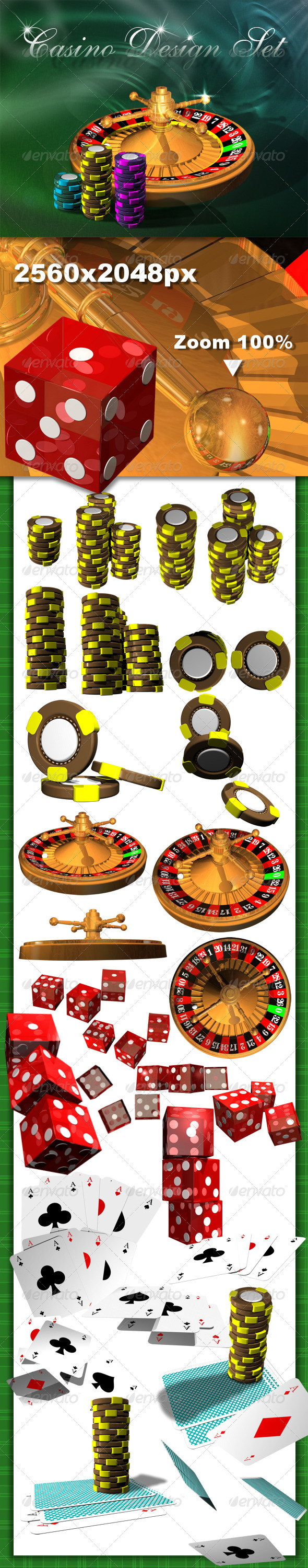 Casino Design Set - Objects 3D Renders