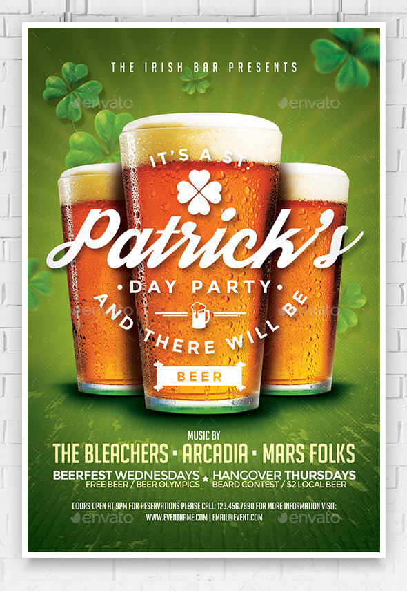 GraphicRiver St Patrick s Day Flyer Template 10507252
