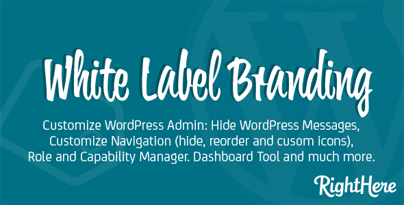 White Label Branding for WordPress - CodeCanyon Item for Sale