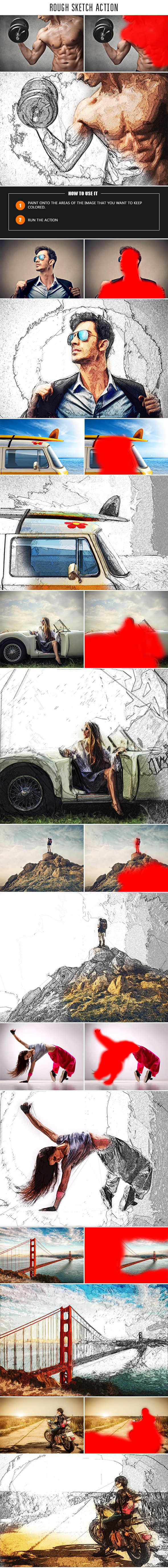 GraphicRiver Rough Sketch Action 10507333