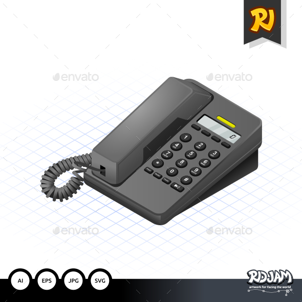 GraphicRiver Isometric Telephone 10507339