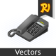 Isometric Telephone - GraphicRiver Item for Sale