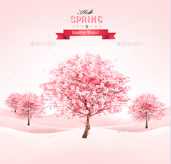 GraphicRiver Sakura Tree 10507381