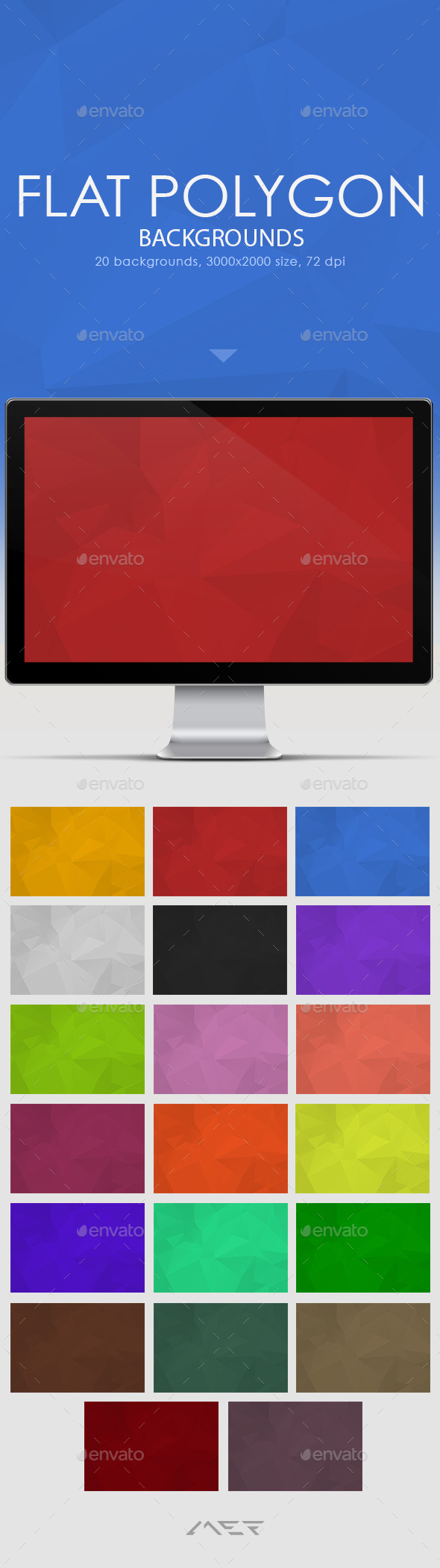 GraphicRiver Flat Polygon Backgrounds 10507391