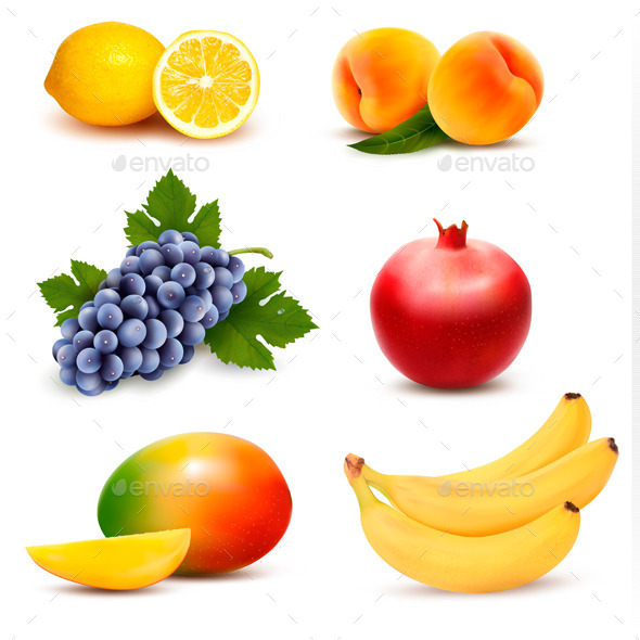 GraphicRiver Big Group of Different Fruit Vector 10507394