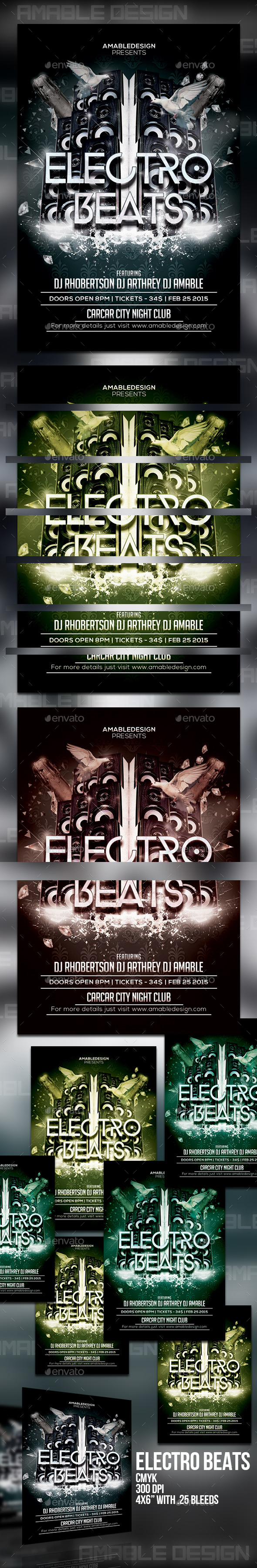 GraphicRiver Electro Beats Flyer 10450208