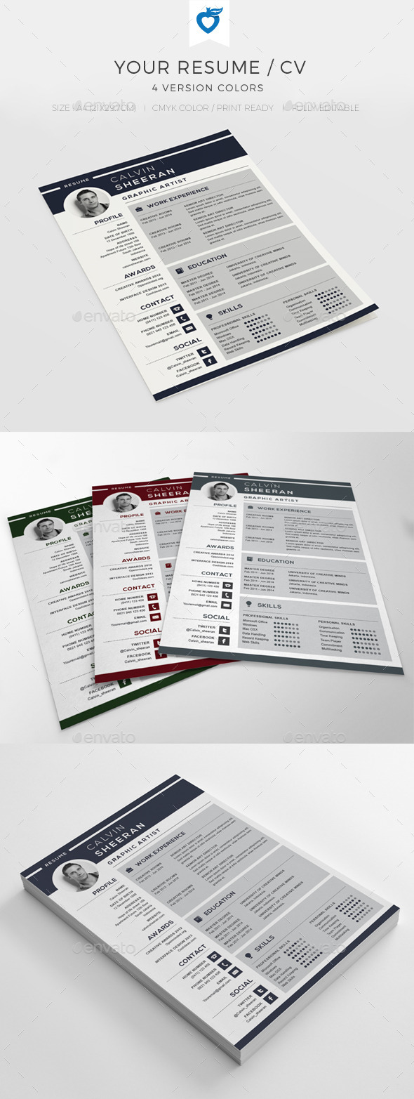 GraphicRiver Your Resume CV 10507626