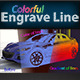 Colorful Engrave Line - GraphicRiver Item for Sale