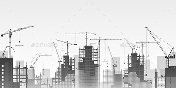 GraphicRiver Tower Cranes 10507985
