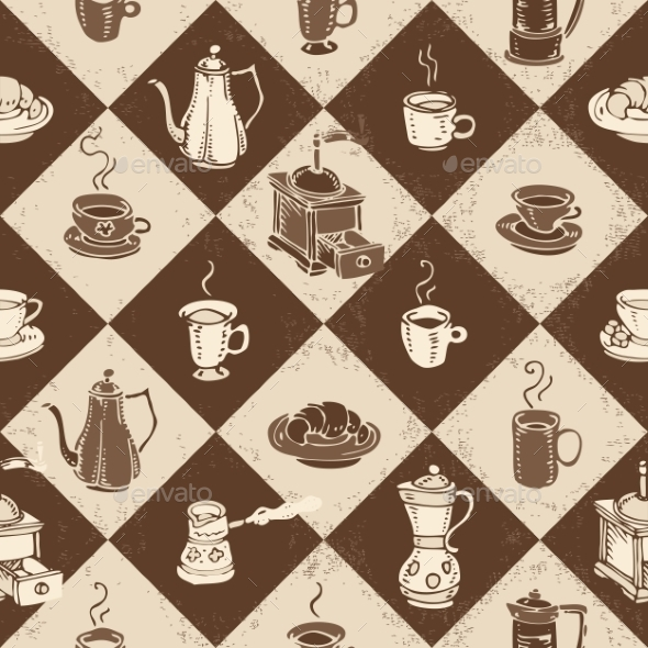 GraphicRiver Caffe Pattern 10508031