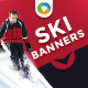 Ski Banners - 2 colors - GraphicRiver Item for Sale