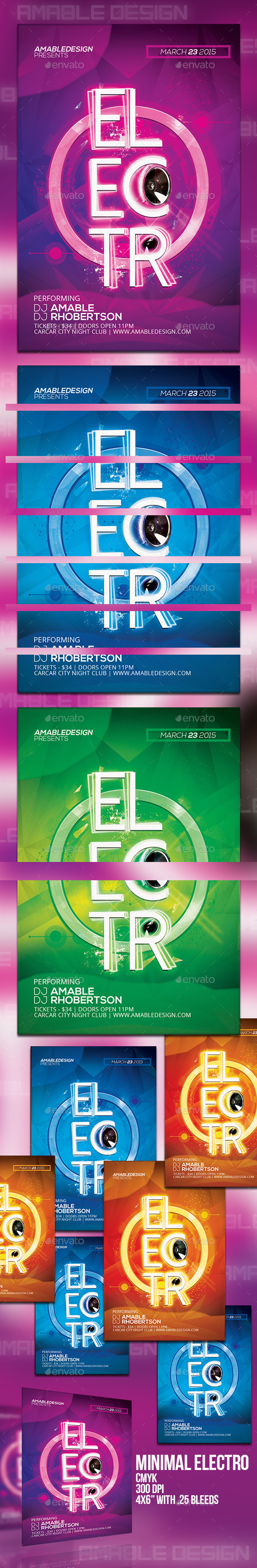 GraphicRiver Minimal Electro Flyer 10508080