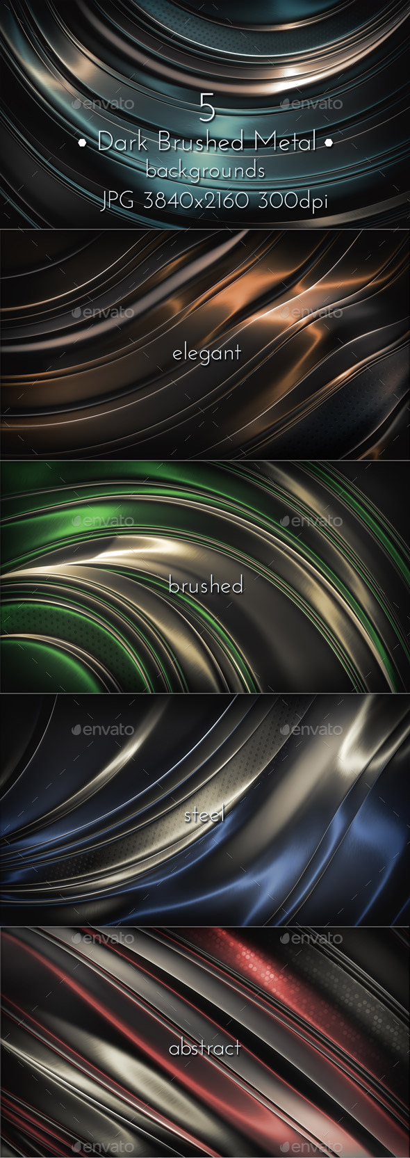 GraphicRiver Dark Brushed Metal Surface 10508230